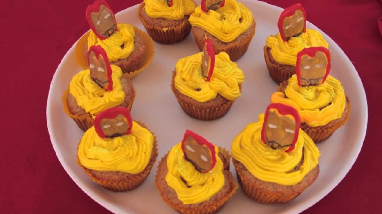 Iron Man Cupcake Cake