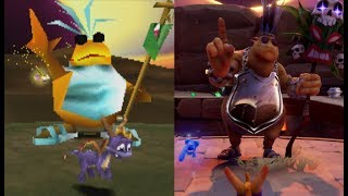All Spyro The Dragon Bosses (PS4 and Original Comparison) - Spyro Reignited Trilogy