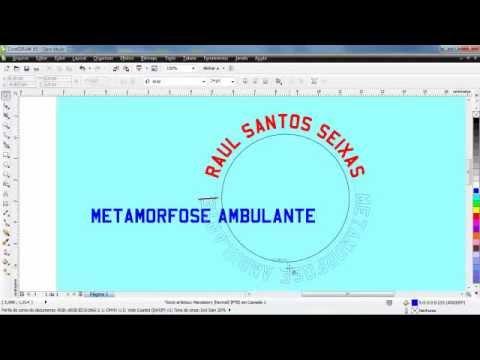 Corel Draw Colocando Texto em Arco.mp4 - YouTube