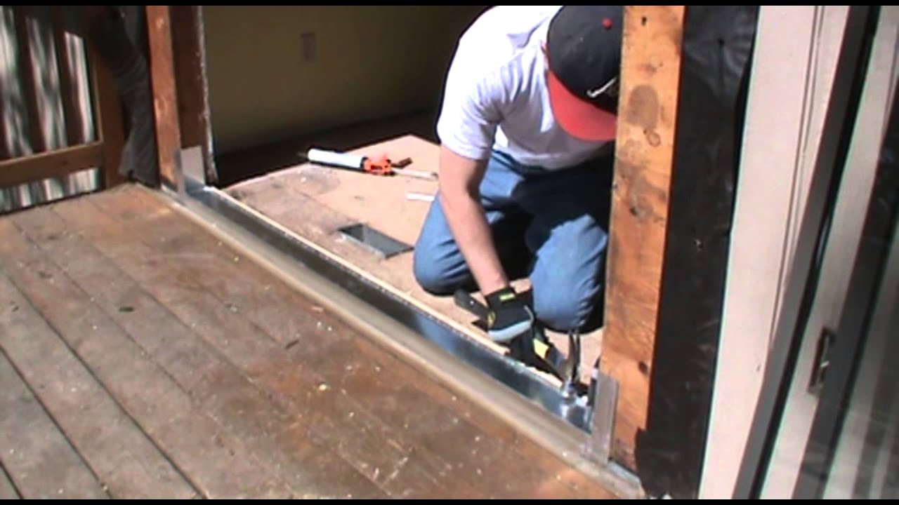 How To Install A Sliding Glass Door With Oglesby Construction   YouTube