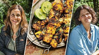 Grilling Kababs with Julia Bradbury