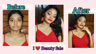 Red hot🌶️ makeup look for party ✨ || I ❤️ Beauty Sale - Upto 50% off😯