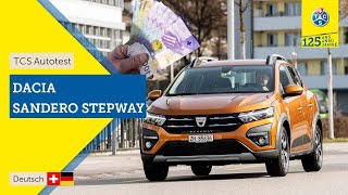 TCS Autotest - Dacia Sandero Stepway TCE 90 Comfort - Kompletter Fahrbericht 2021