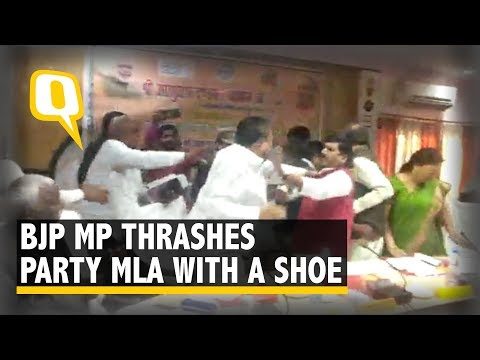 Watch: BJP MP Beats Party MLA With Shoe in UP's Sant Kabir N