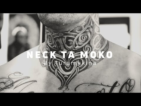c1cea1a72 Maori Neck Tattoo Ta Moko by Turumakina - YouTube