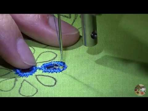 ce28e7ba9e3 Bordar con máquina de coser eléctrica  Bordado ingles  clase 1- Nivel Básico
