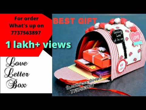 Best Gift For Girlfriend Boyfriend Handmade Letter Box With 10