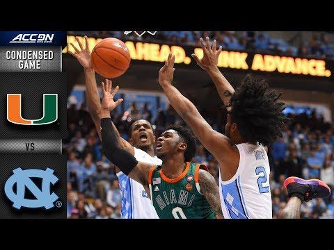 Miami vs. North Carolina Condensed Game | 2018-19 ACC Basketball