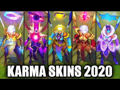 All Karma Skins Spotlight 2020 (League of Legends)