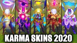 All Karma Skins Spotlight 2020 (League of Legends)
