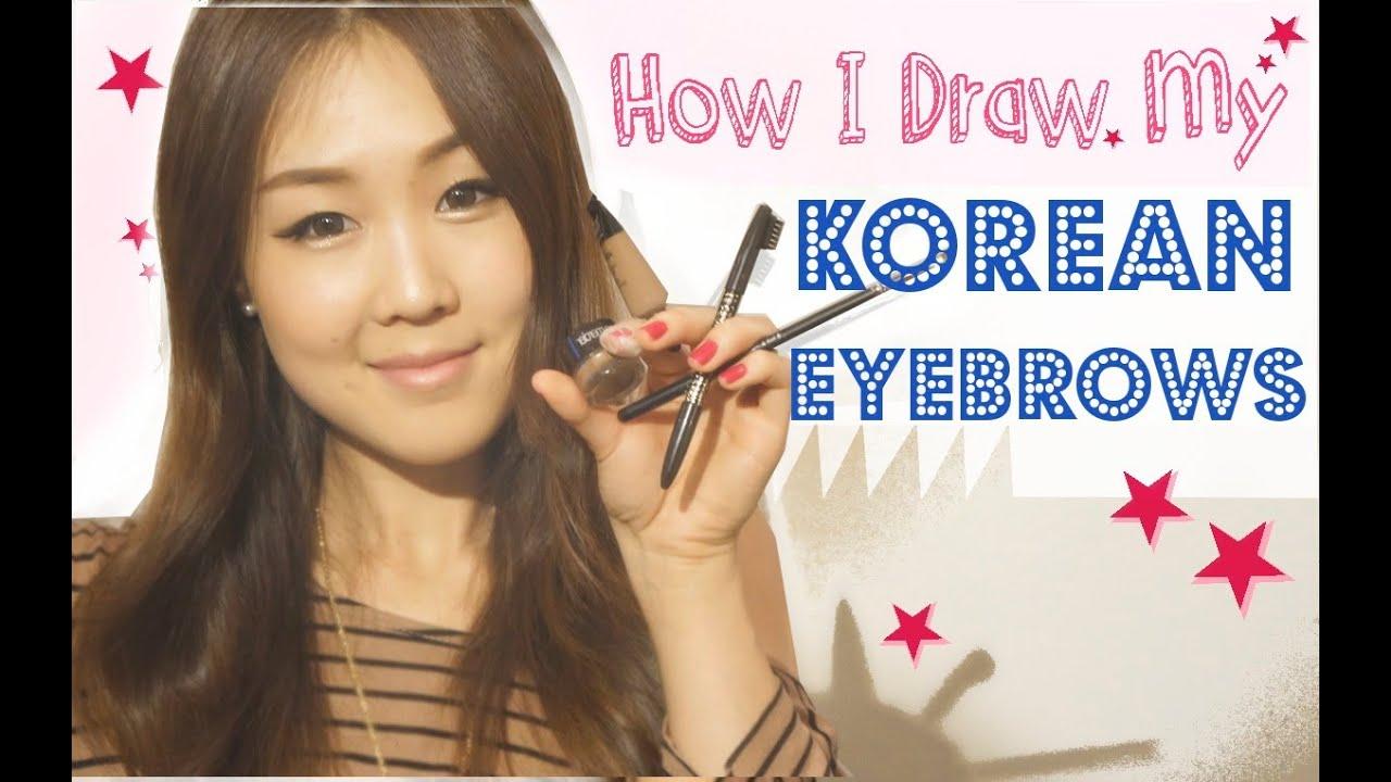 How I Draw My Korean-Style Eyebrows Tutorial ♥ 이쁜 눈썹 그리기 ...