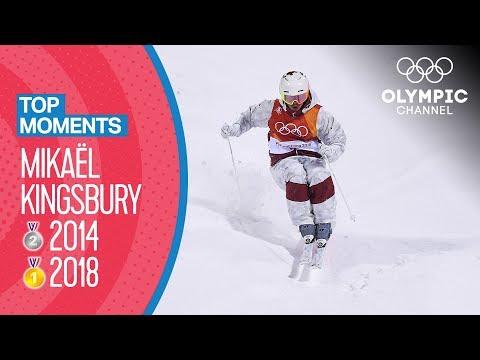 Mikaël Kingsbury's medal winning runs at the Olympics 2014 & 2018 |Top Moments