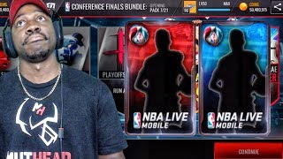 TRYING TO COMPLETE CONF FINALS MASTERS w/PACK OPENING! NBA Live Mobile 16 Gameplay Ep. 117