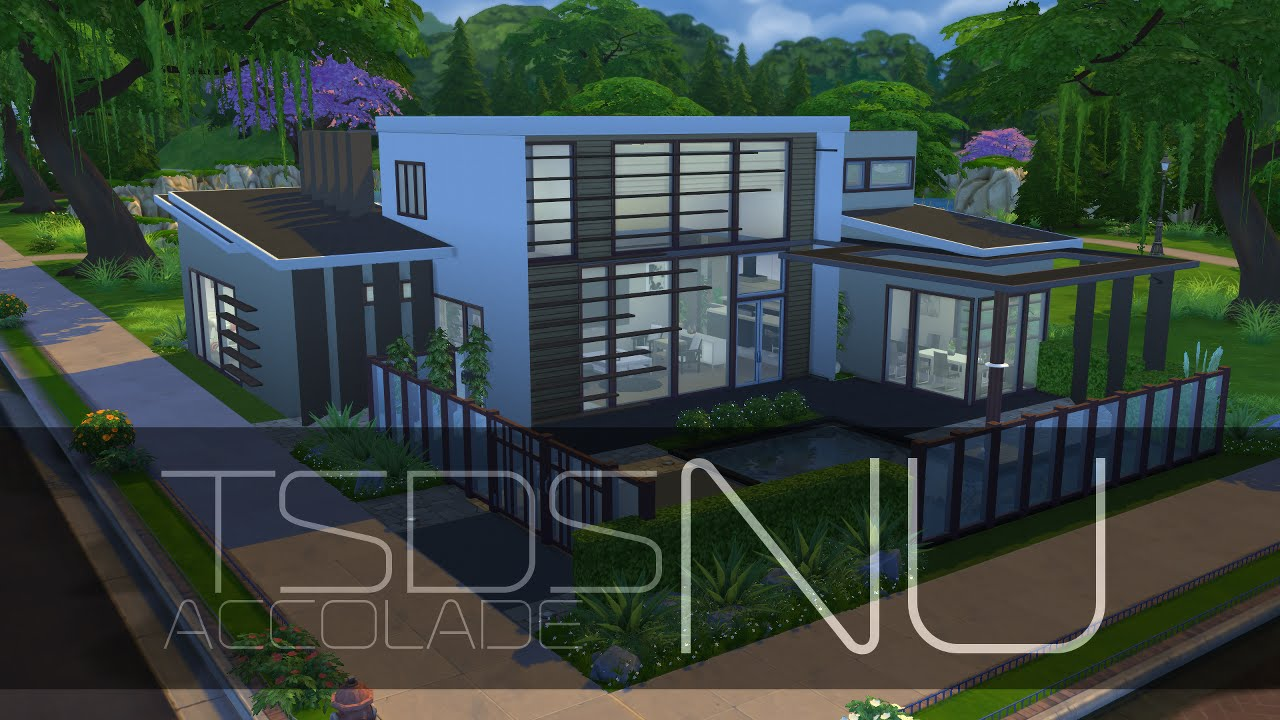 The Sims 4 Modern House - Accolade [HD] Download(*) - YouTube
