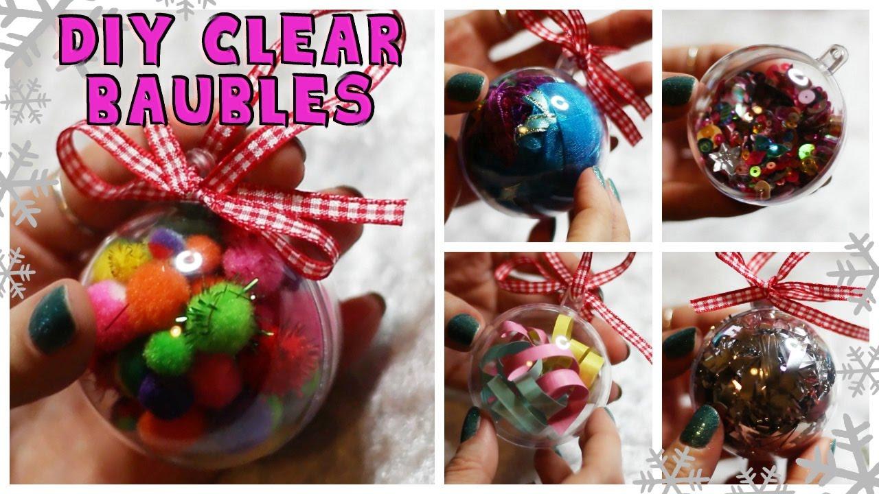 Diy Ideas For Clear Baubles Ornaments 5 Ways Youtube