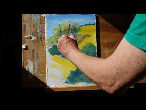 10 minute landscape painting