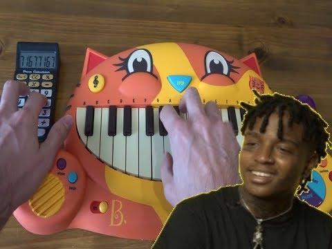 Ski Mask The Slump God - BabyWipe ON A CAT PIANO AND A DRUM CALCULATOR