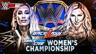 WWE Backlash 2018 Charlotte vs Carmella SmackDown Women's Championship | WWE 2K18 Gameplay 60fps HD