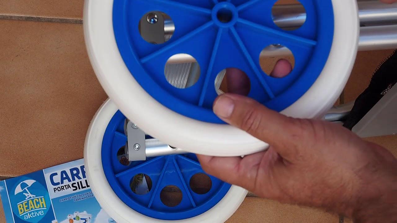 Sirve Como Mesa Aktive 53928 Carro Portasillas Y Mesa De Playa Youtube