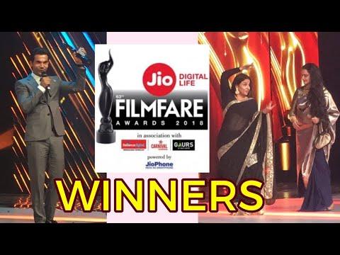 Filmfare Awards 2018 Winners -Irrfan Khan, Rajkummar Rao, Vidya Balan