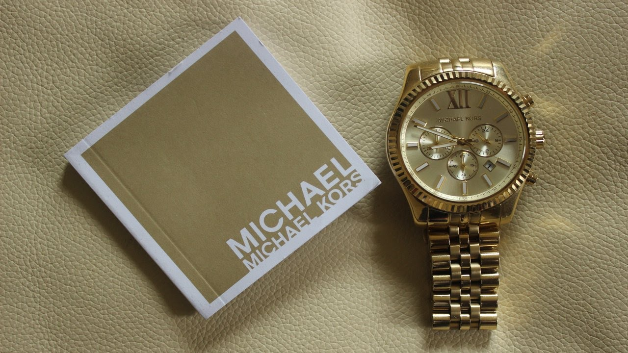 Permalink to Michael Kors All Gold Diamond Watch