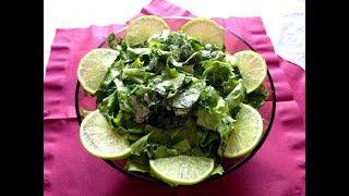 Салат из листьев салата, зелени и сыра ❀ЗЕЛЕНОЕ ЛЕТО❀