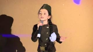 Николь Короли 8лет. Стих: Девочка прошедшая войну.