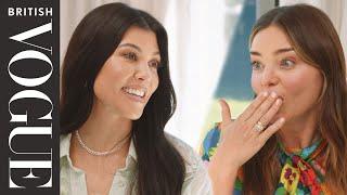 Kourtney Kardashian Hosts Miranda Kerr for Dinner