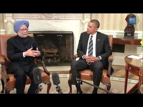Prime Minister Manmohan Singh of India and President Obama at the White House (2013)