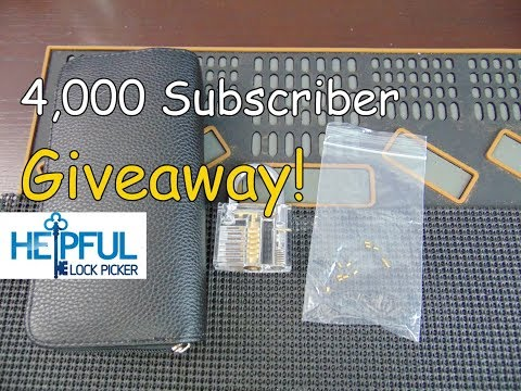 [128] HelpfulLockPicker 4,000 Subscriber Giveaway!