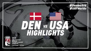 Game Highlights: Denmark vs United States May 5 2018 | #IIHFWorlds 2018