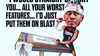 Allen Iverson actually love drawing!