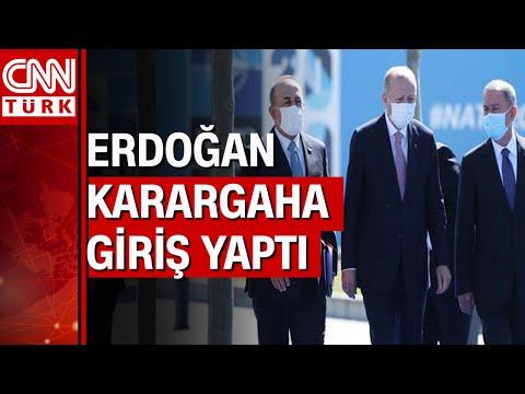 Cumhurbaşkanı Erdoğan, NATO karargahına işte böyle girdi