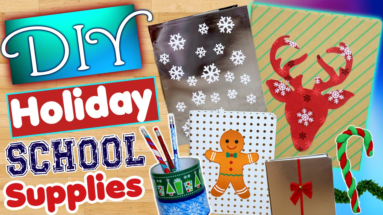 Diy Christmas Decor For School : Diy holiday school supplies decorate your