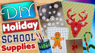 DIY Holiday School Supplies! | Decorate Your School Supplies For Christmas! | Office Decor!