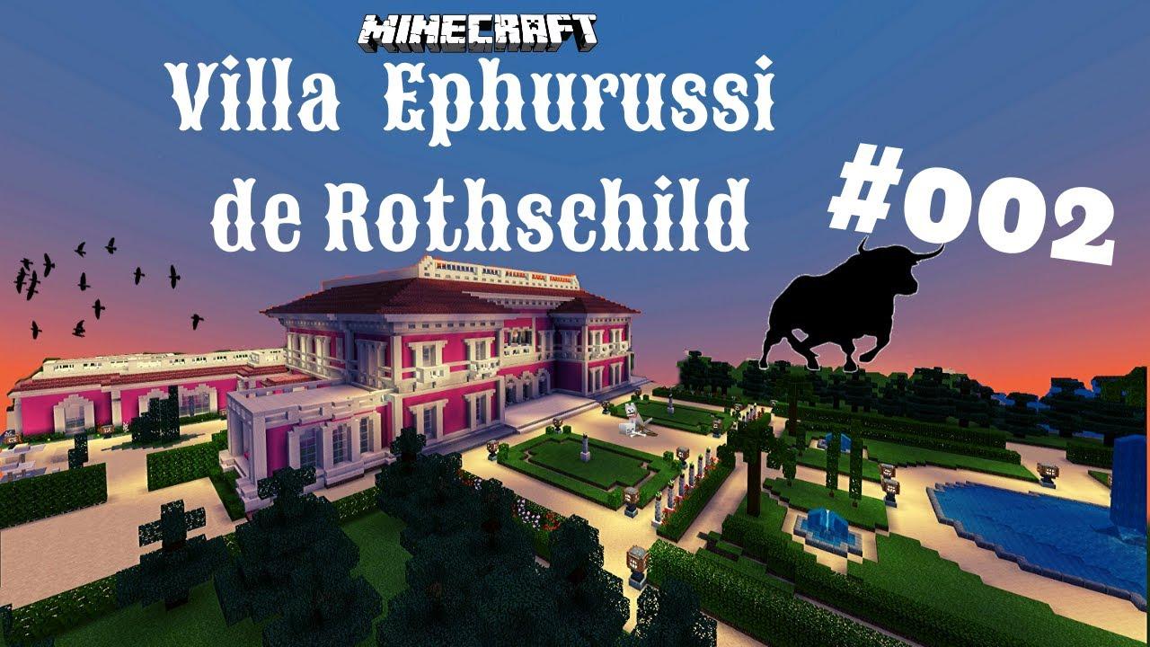Minecraft Villa Jardins Ephrussi de Rothschild #002   Hinter dem Haus gibt  es viele Fenster