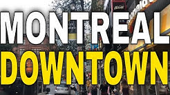 Montreal - Sainte-Catherine Street From West to East - 4K