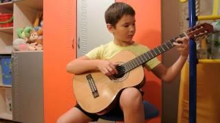 Под небом голубым(Город золотой) на гитаре