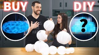 BUY vs DIY - $3000 Cloud Lamp (w/ speaker & responsive lights!)