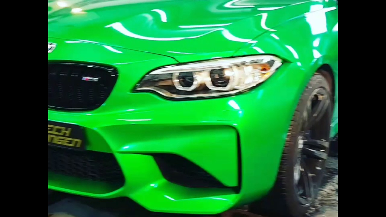 Protech Folierungen Presentiert Einen Bmw M2 Java Grün Glanz Foliert