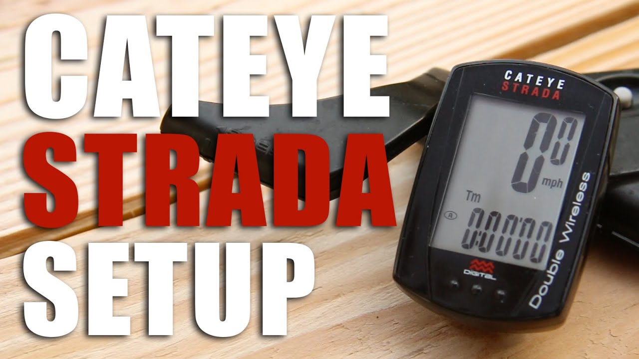 How To Setup A Cateye Strada Double Wireless Computer Youtube