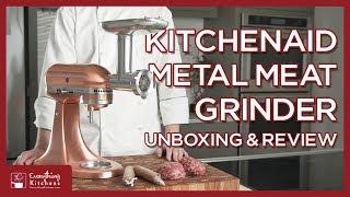 KitchenAid Metal Food Grinder - Meat Grinder Attachment Unboxing & Test