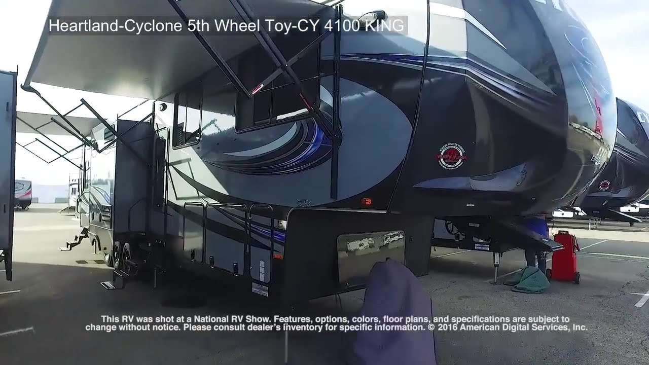 heartland cyclone 5th wheel toy cy 4100 king youtube. Black Bedroom Furniture Sets. Home Design Ideas