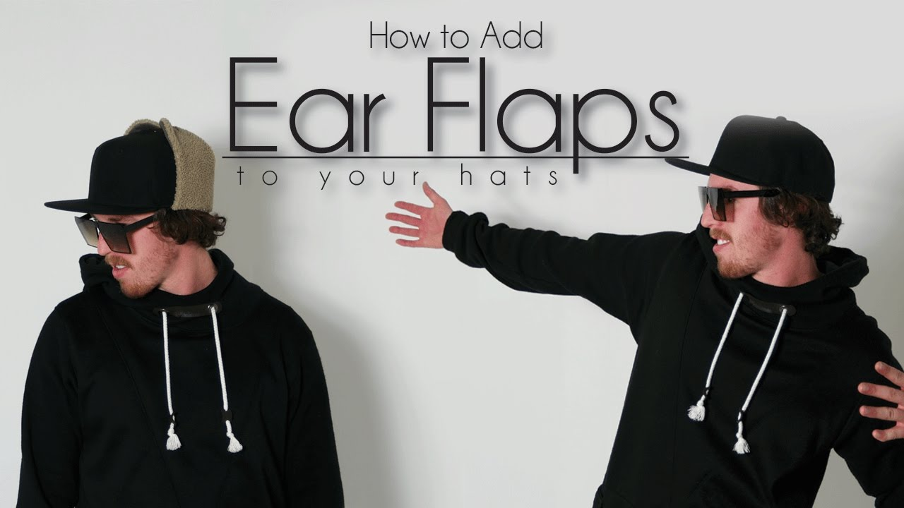 e923ee3d48f Easy DIY Transformation  How to Add Ear Flaps on Hats - YouTube