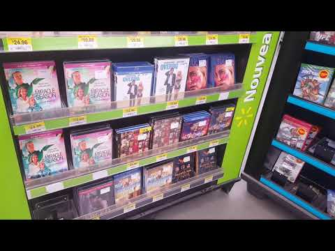 DVD And Blu-Ray Section At Canadian Walmart - Magog, Quebec