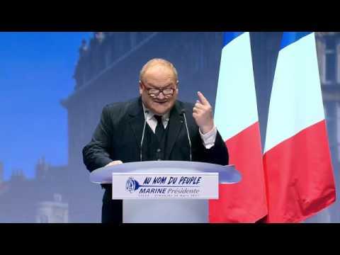 Marine Le Pen meeting à Lille pour les prèsidentielles 2017