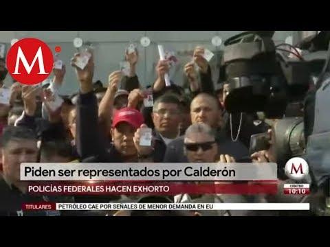 Policías federales piden ser representados por Felipe Calderón