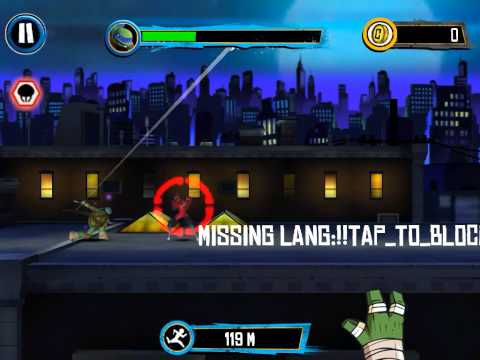 Обзор игры на iOS: Teenage Mutant Ninja Tuetles:Rooftop Run