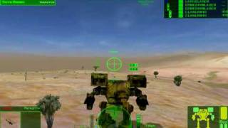 Mechwarrior 4 Gameplay Desert 6 part1