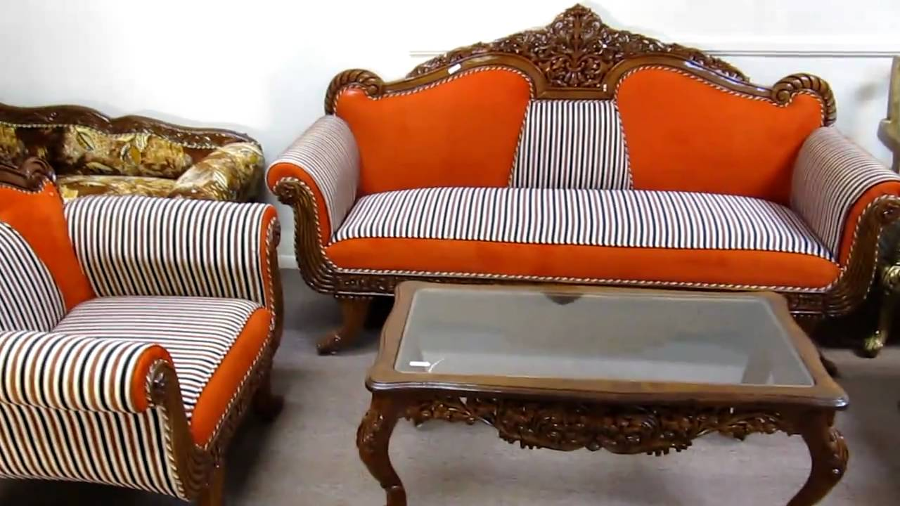 Sofa Set Pictures India Hand Carved Furniture Sofa Sets Made In India.mov - Youtube